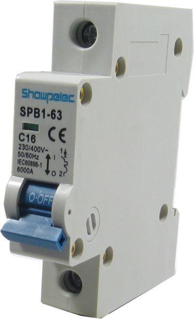 Jistič TSM6-63 230V/16A/C 1fázový na DIN lištu