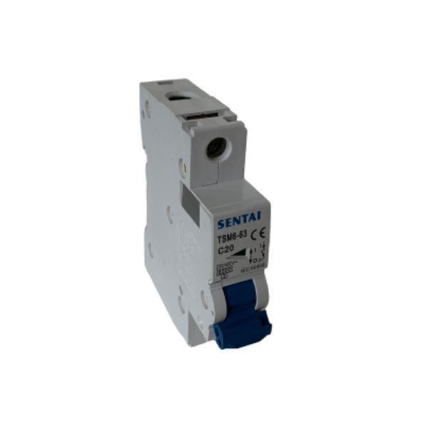 Jistič TSM6-63 230V/20A/C 1fázový na DIN lištu