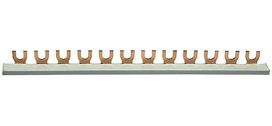 Propojovací lišta k jističům 1 pólová, 12kontaktů, 63A/lišta, l=21cm