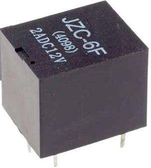 Relé JZC-6F1C 5V 28VDC/2A(230VAC/1A) 19x16x15mm
