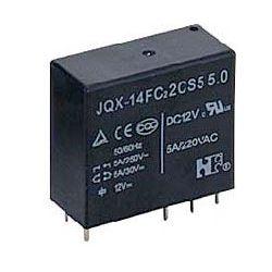 Relé JQX-14F(1C) 12V, kontakt 250VAC/5A