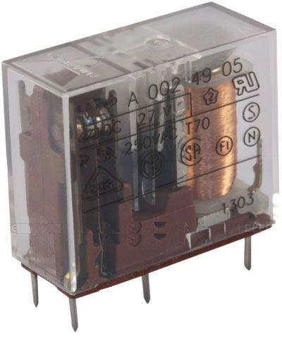 Relé MZP A 001 49 05 19V, přepínací kontakt 250VAC/5A