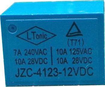 Relé HLS-T72 12V 28VDC/10A(240VAC/5A) 22x17x15mm