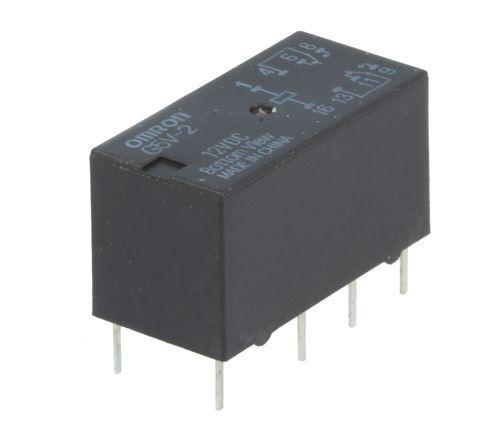 Relé G5V2-12 12V, 30V=/2A(120VAC/0,6A) 20x10x12mm