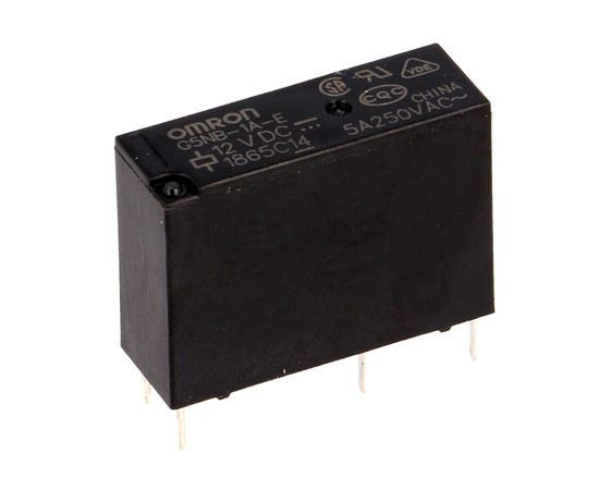 Relé G5NB-1A-E-12 12V/18mA/0,22W kontakty 5A, 20,5x7,2x15,3mm OMRON