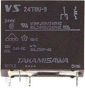 Relé 24TBU-E Takamisawa 24V přep.kontakt 230VAC/10A