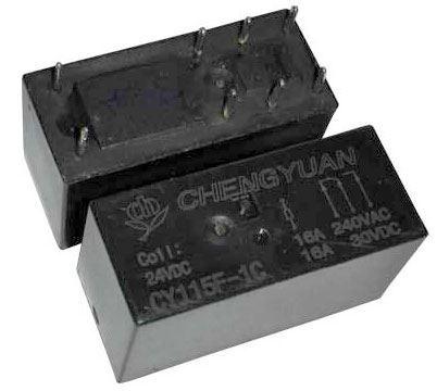 Relé CHENGYUAN - CY115F(JQX-115F) 24VDC, kontakty 250V/16A