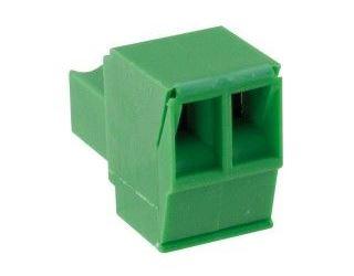 Svorkovnice násuvná 2pin na kabel RM 3,81 160V/9A, zelená