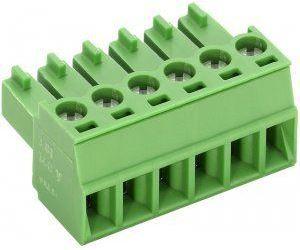 Svorkovnice násuvná 3pin na kabel RM 3,81 160V/9A, zelená