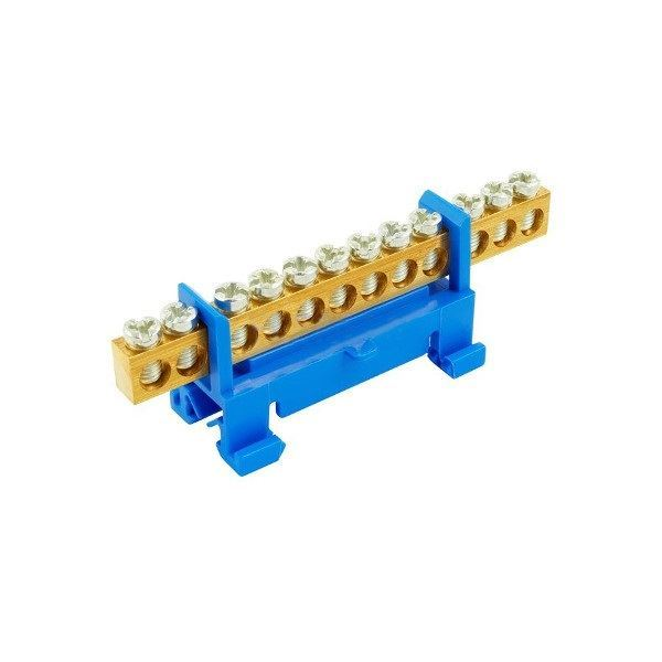 1000007 N 12 - modrý Nulovací a rozbočovací můstek 12x16 -  Eleman