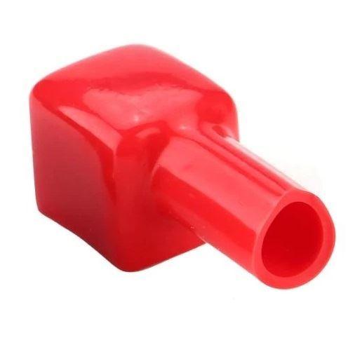 Ochranná krytka na svorku baterie červená, velikost 16x16x14mm