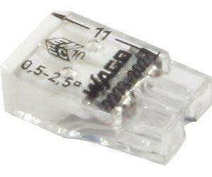 Svorka Wago, 2273-202, 0,5 - 2,5 mm2, 2pólová, transparentní/bílá