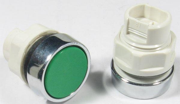 Ovládací hlavice T6A/22 zelená