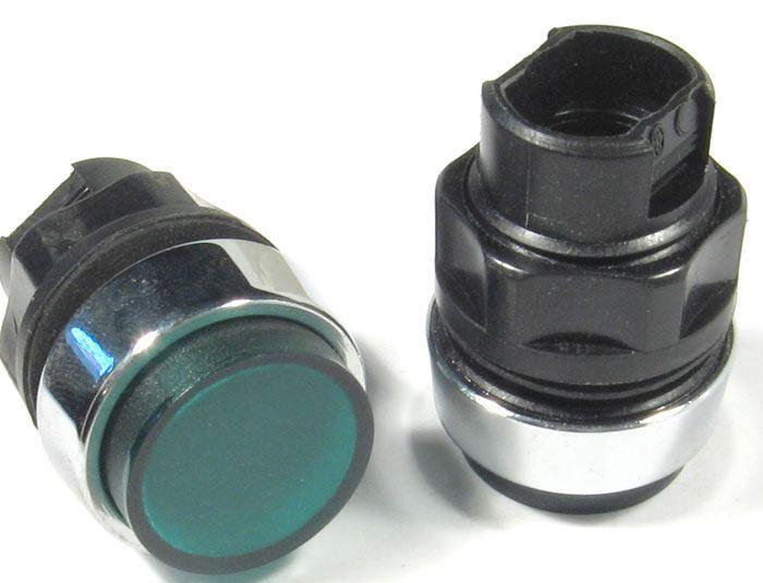 Signalizační hlavice T6E/22 zelená průsvitná