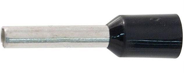 Dutinka pro kabel 1,5mm2 černá (E1510), balení 100ks