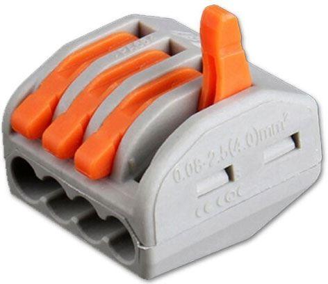 Rychlospojka PCT-214 se svorkou pro kabely 0,75-2,5mm2