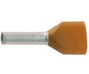 Dutinka pro dva kabely 0,5mm2 oranžová (TE0,5-8)