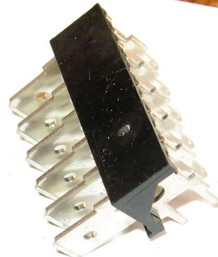 Faston-konektor 6,3mm do DPS - 6x úhlový 90st