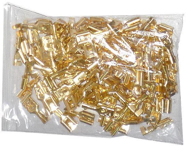 Faston-zdířka 6,3mm neizolovaná, kabel do 1,5mm2, balení 100ks