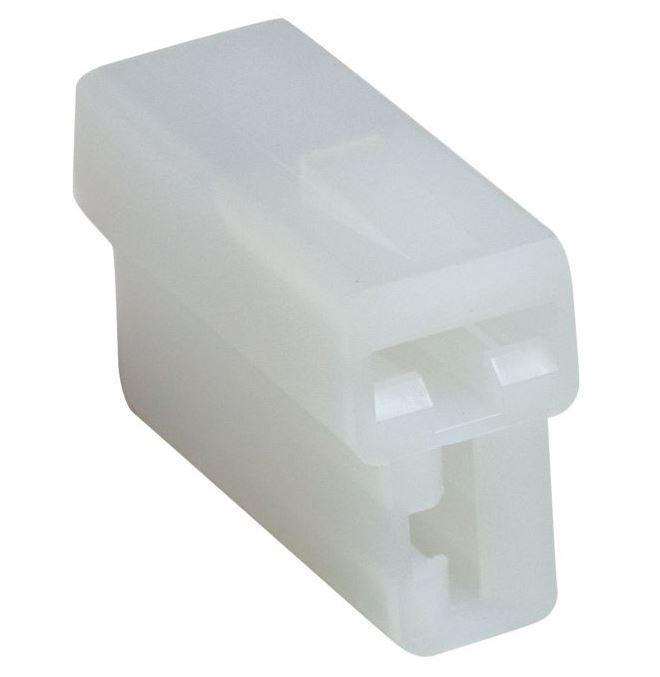 Krytka izolační na faston zásuvka 6,3mm 2x, čirá