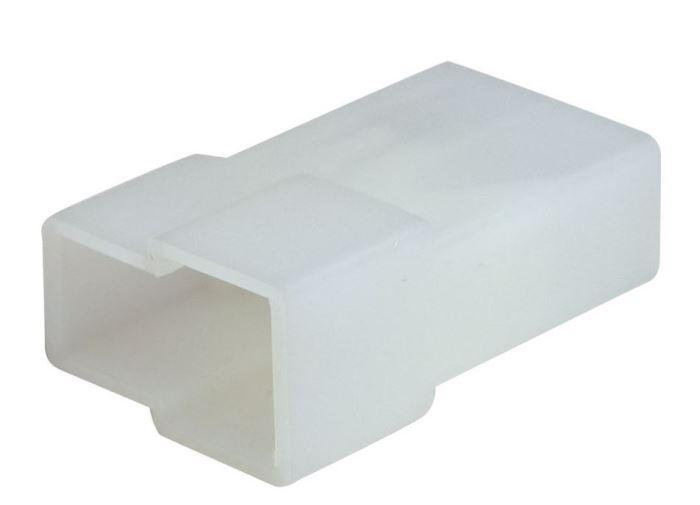 Krytka izolační na faston vidlice 6,3mm 2x, čirá