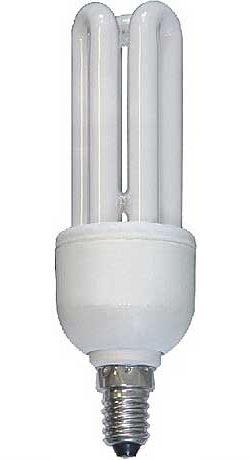 Úsporná žárovka 230V/11W E14 3xU,teplá bílá, DOPRODEJ