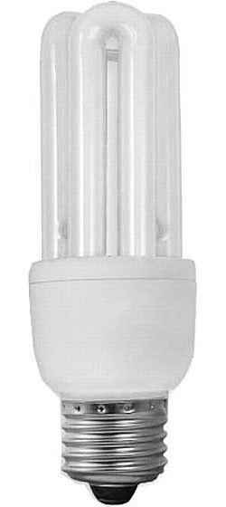 Úsporná žárovka 230V/11W E27 3xU,teplá bílá, DOPRODEJ
