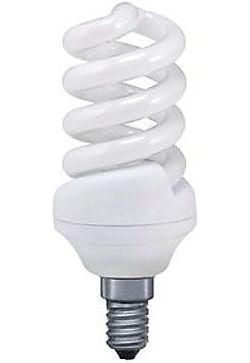Úsporná žárovka 12V/15W E14 spirála, denní bílá