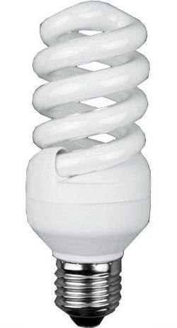 Úsporná žárovka 12V/15W E27 spirála, denní bílá