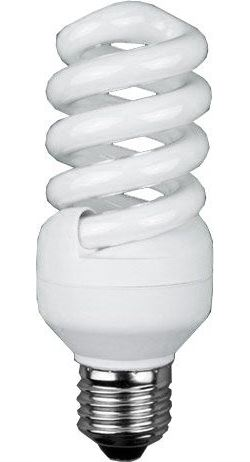 Úsporná žárovka 12V/15W E27 spirála, teplá bílá