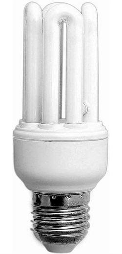Úsporná žárovka 230V/15W E27 4xU,teplá bílá