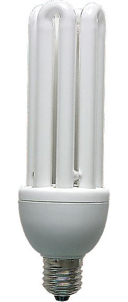 Úsporná žárovka 230V/36W E27 4xU,denní bílá