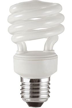 Úsporná žárovka 230V/13W E27 spirála,studená bílá