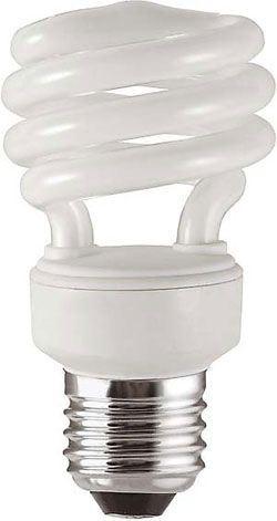 Úsporná žárovka 230V/13W E27 spirála,denní bílá