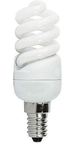 Úsporná žárovka 230V/9W E14 spirála,denní bílá, DOPRODEJ