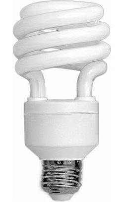Úsporná žárovka 230V/26W E27 spirála,teplá bílá