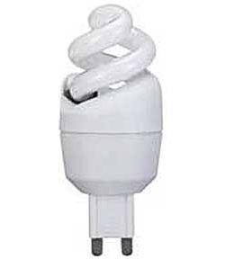 Úsporná žárovka 230V/5W G9 spirála,teplá bílá