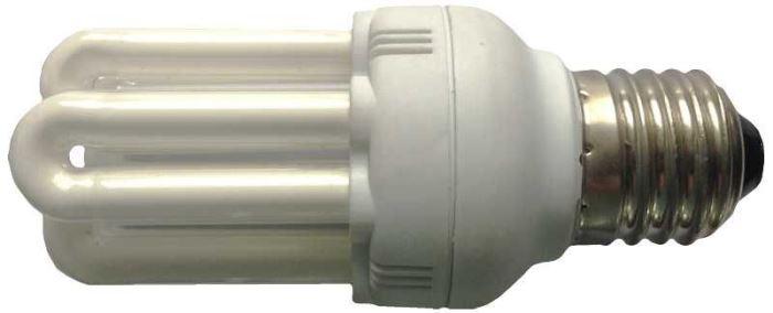 Úsporná žárovka 230V/18W E27 6xU,denní bílá