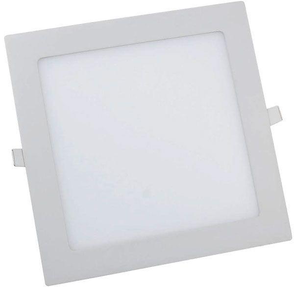 Podhledové světlo LED 18W,225x225mm, bílé, 230V/18W, vestavné