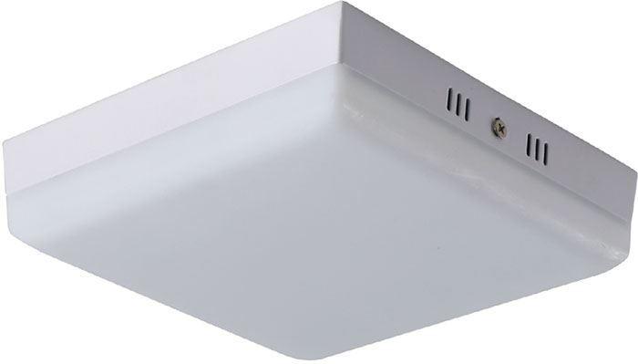 Podhledové světlo LED 24W, 175x175mm, teplá bílá, 230V/24W, přisazené