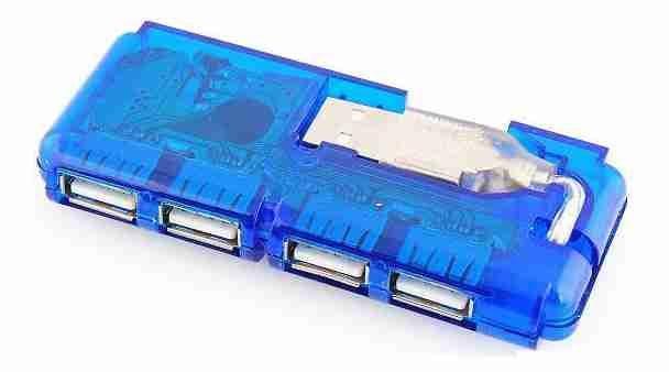 USB HUB 4 portový, bez napájení, typ 848