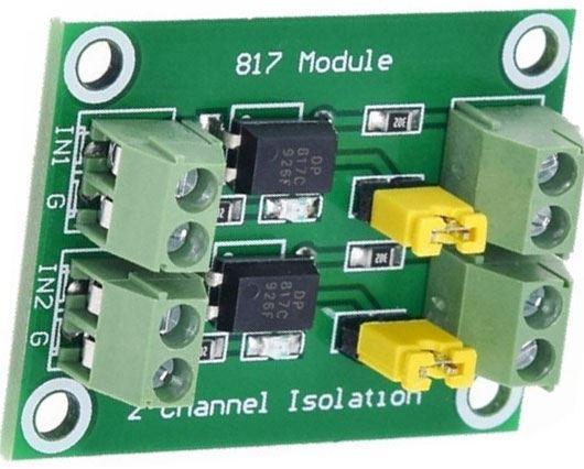 Modul optického oddělení s PC817 - 2 kanály