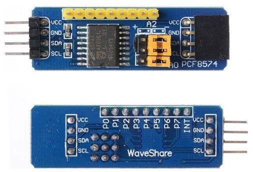 Expandér I2C s PCF8574