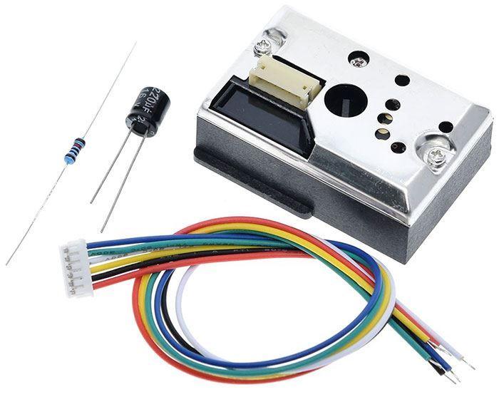 Optický senzor kvality ovzduší, modul GP2Y1014AU0F