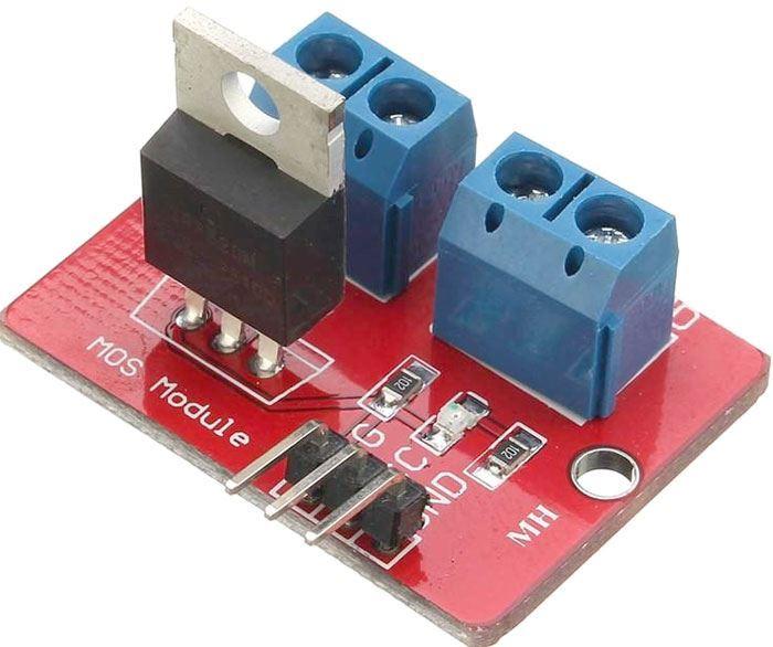 Výkonový spínač MOSFET PWM, modul s IRF520