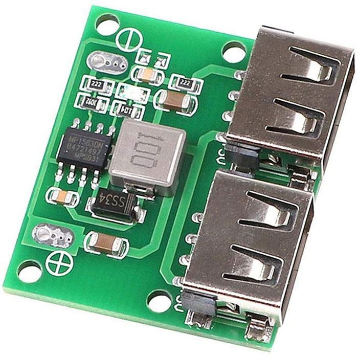 Napájecí modul, step-down měnič 5V/3A, 2x USB