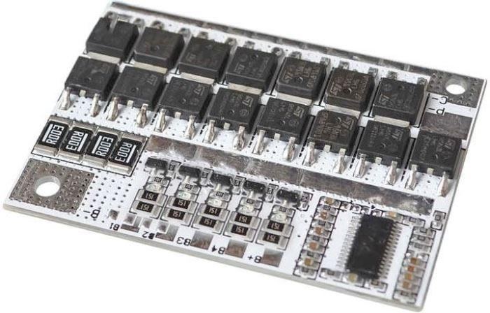Ochranný obvod a balancér pro 4 LiFePO4 články, proud do 100A