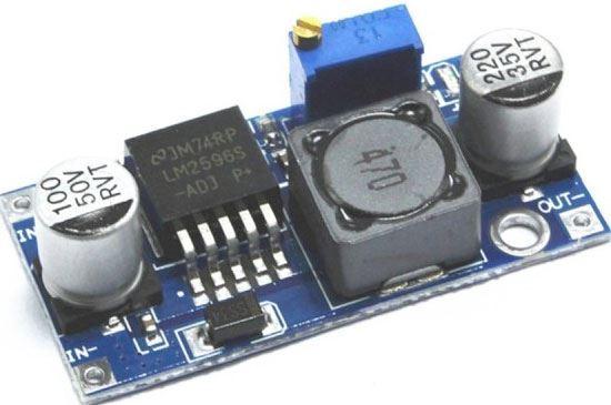 Napájecí modul, step-up měnič 3A s LM2596