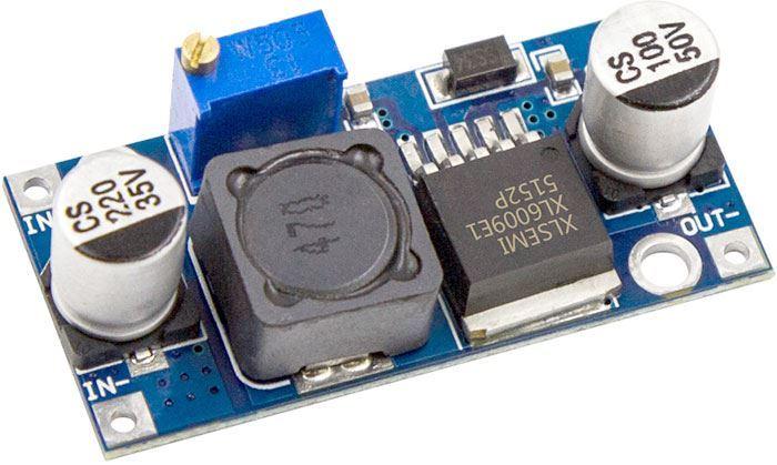 Napájecí modul, step-up měnič 4A s XL6009