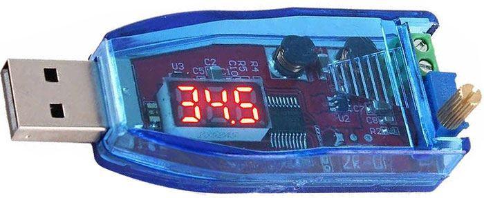 Napájecí modul, step-up měnič 5V na 1,2-24V, modul ZK-DP